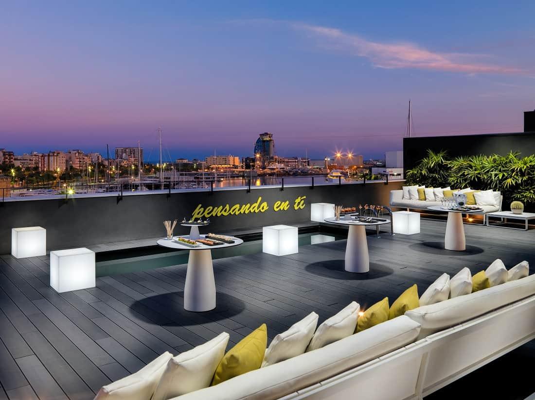 H10 port vell hotel barcelona navigator for Terrazas de hoteles en barcelona