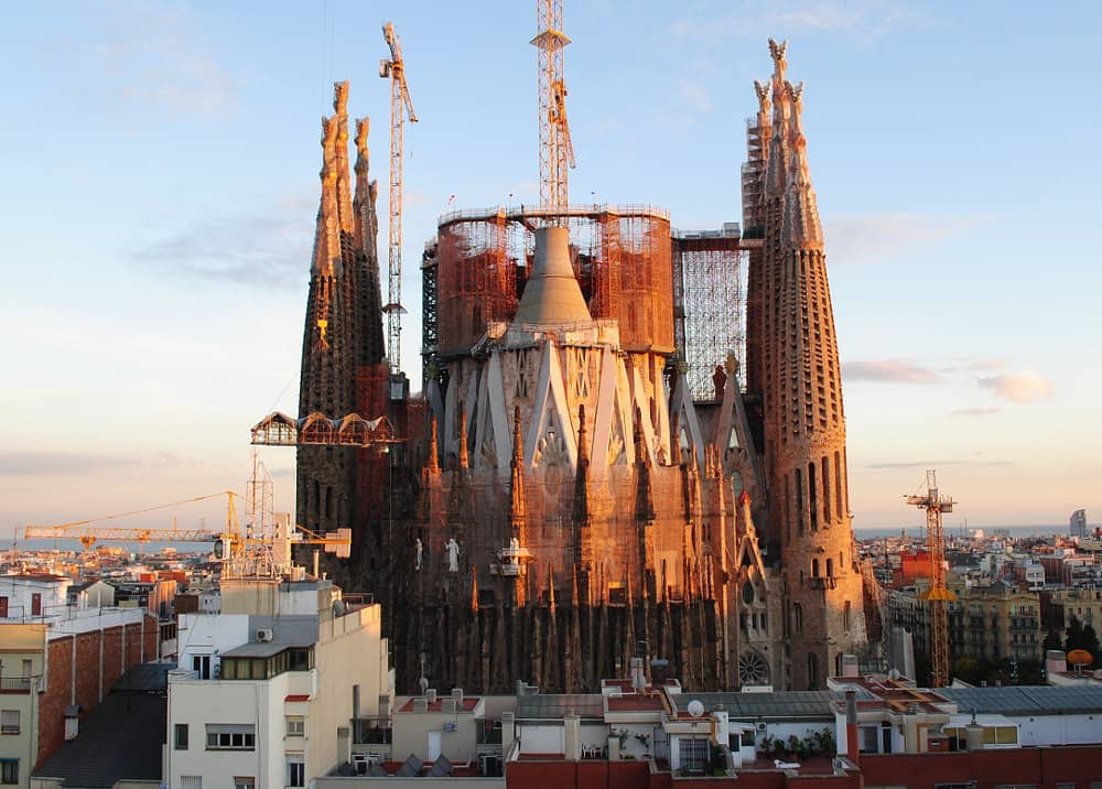 La Sagrada Família from the terrace of Ayre Hotel Rosellon Barcelona