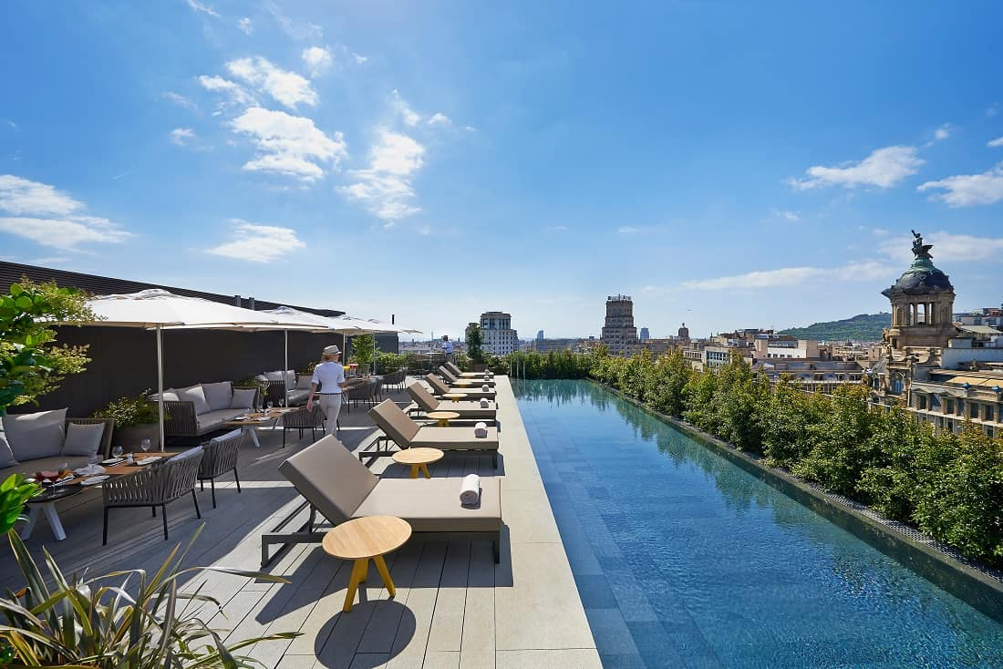 Roof Terrace of Mandarin Oriental Barcelona