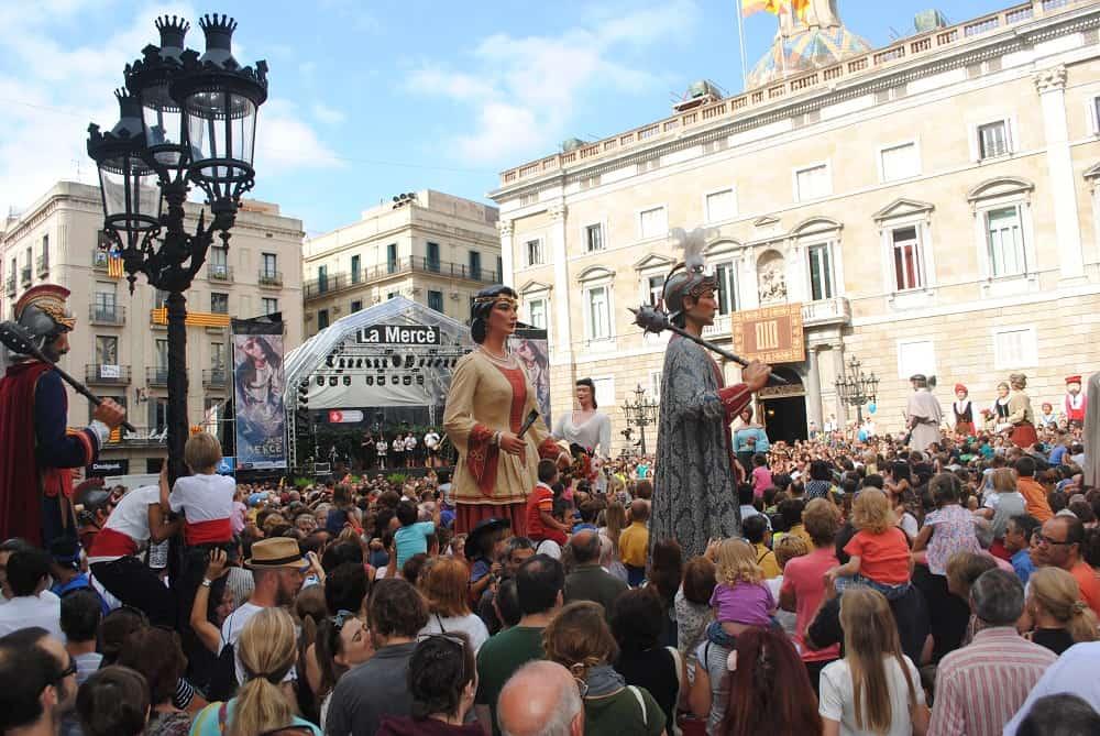 La Mercè 2013 Gegants, Plaça Sant Jaume