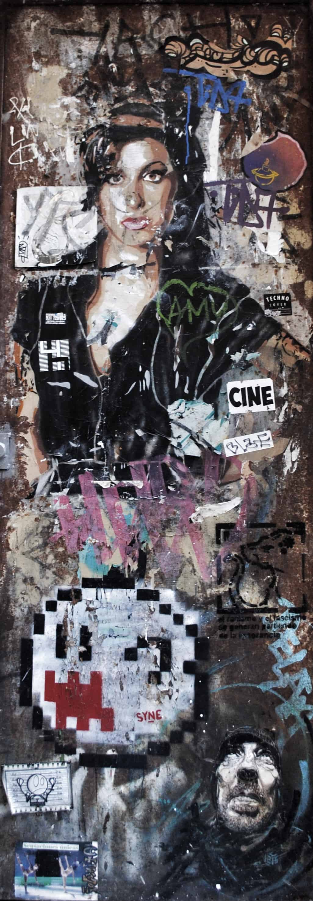 Amy Winehouse Barcelona Street Art & Graffiti