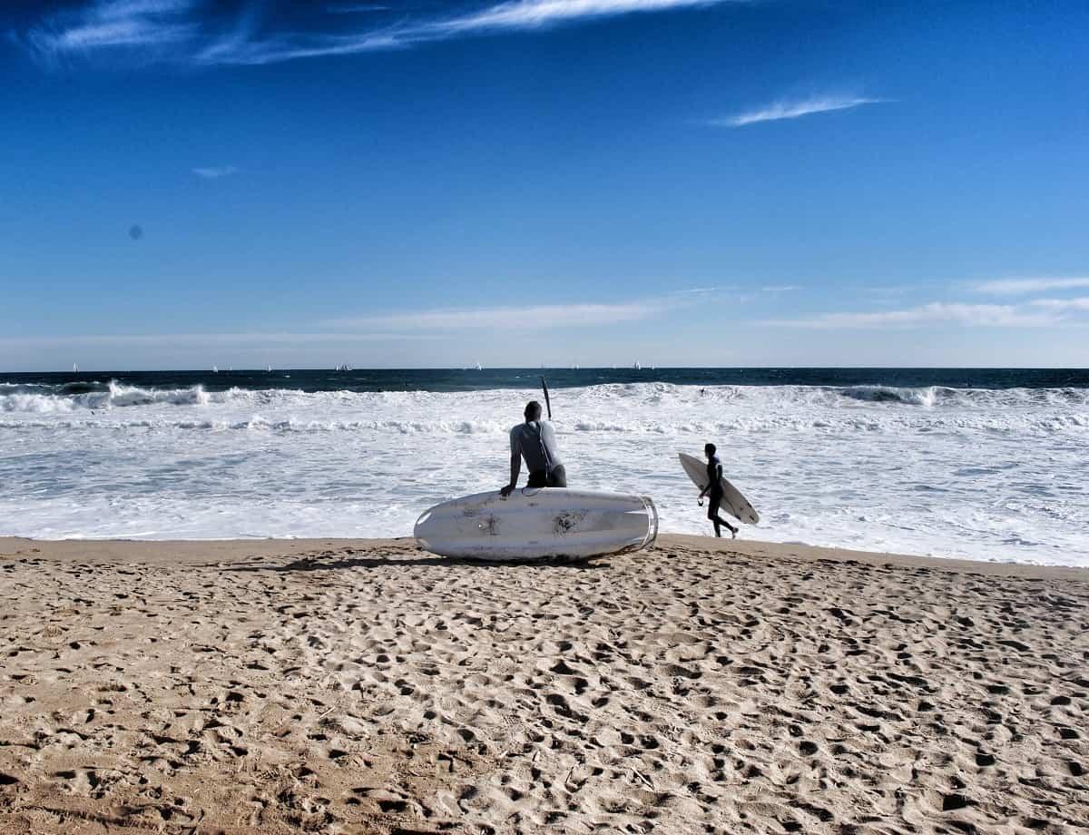 Surfers, Barceloneta Beach