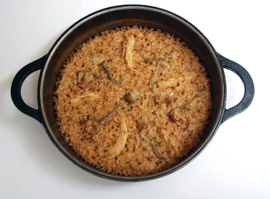 Arroz con espardenyes (Rice with sea cucumbers)