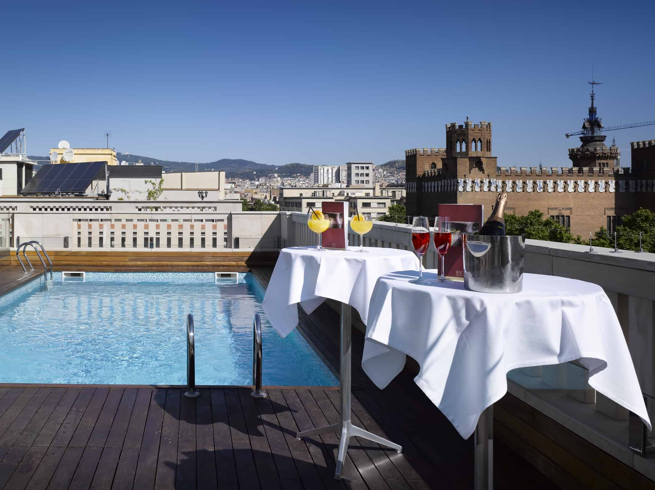 K+K Hotel Picasso - Terrace with pool