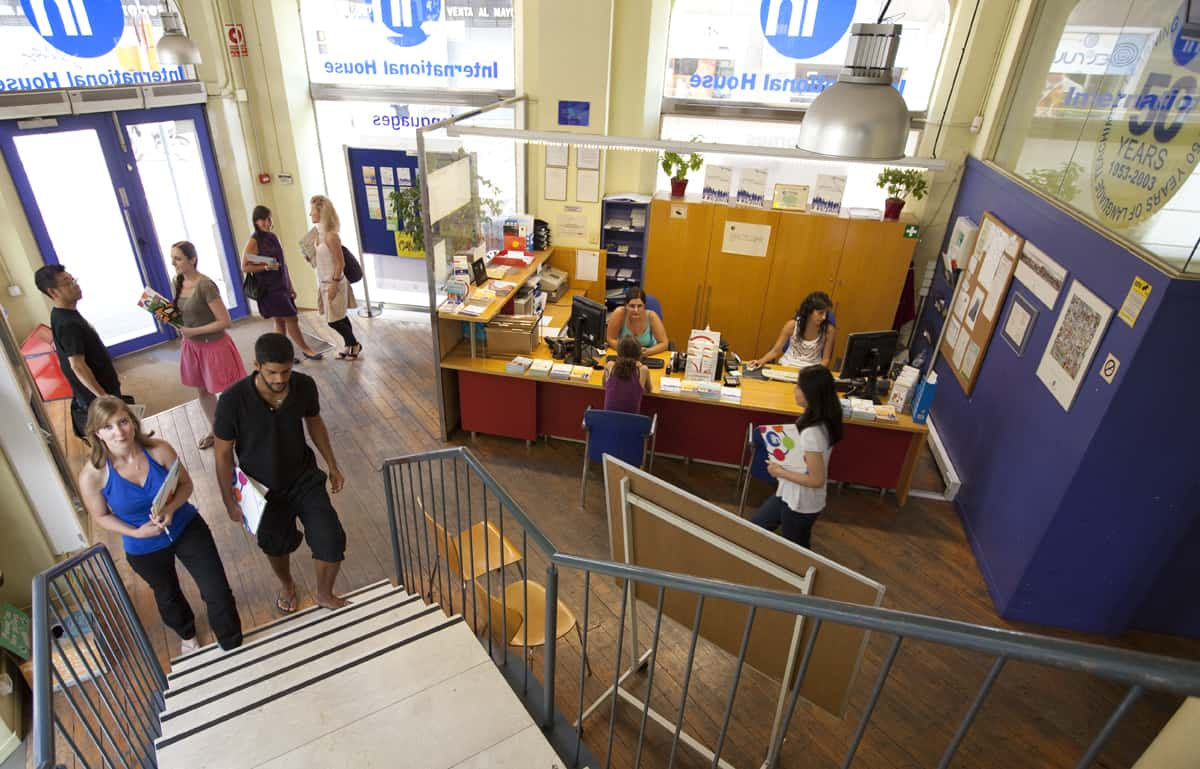 International House Barcelona Spanish School General reception & entrance