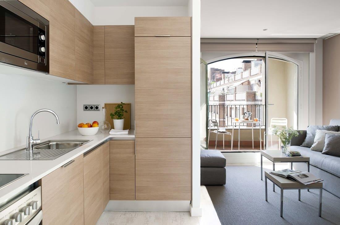Eric Vökel Gran Vía Suites Kitchen and Living Room