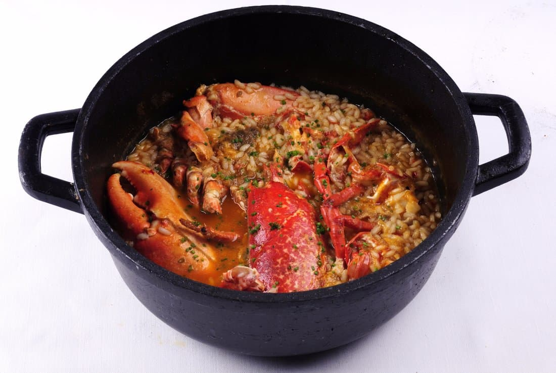 Arroz caldoso de bogavante (Rice in broth with lobster)