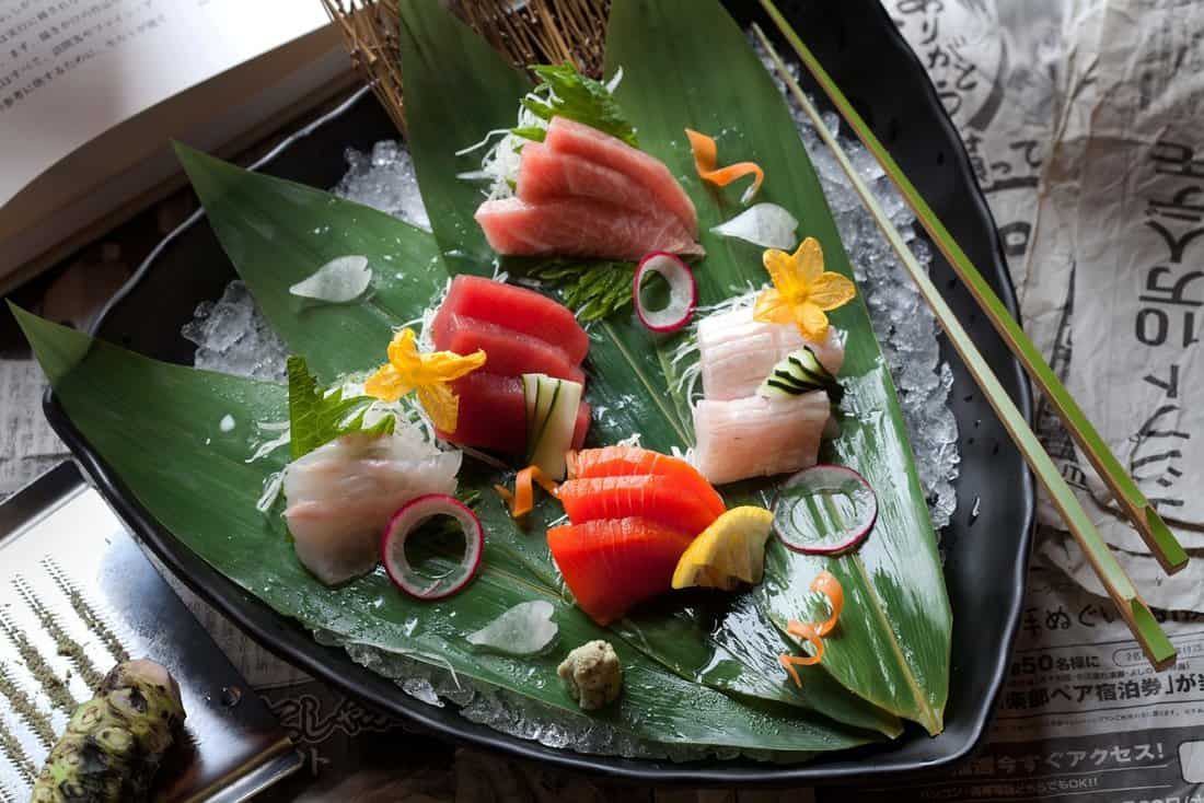 El Cercle Restaurant: Sashimi: tuna, tuna belly, salmon, hamachi, whitefish