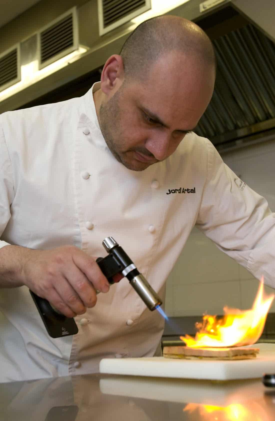 Chef Jordi Artal Cinc Sentits Restaurant