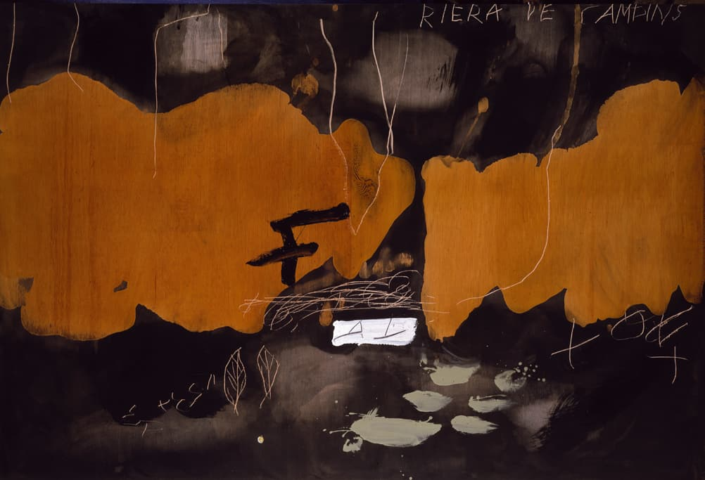 Antoni Tàpies, Riera de Campins (Paint and varnish on wood), 1984
