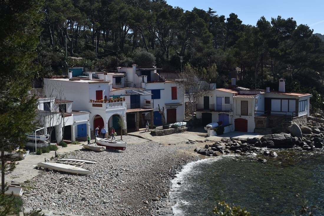 Fishermens Houses Near Palamos