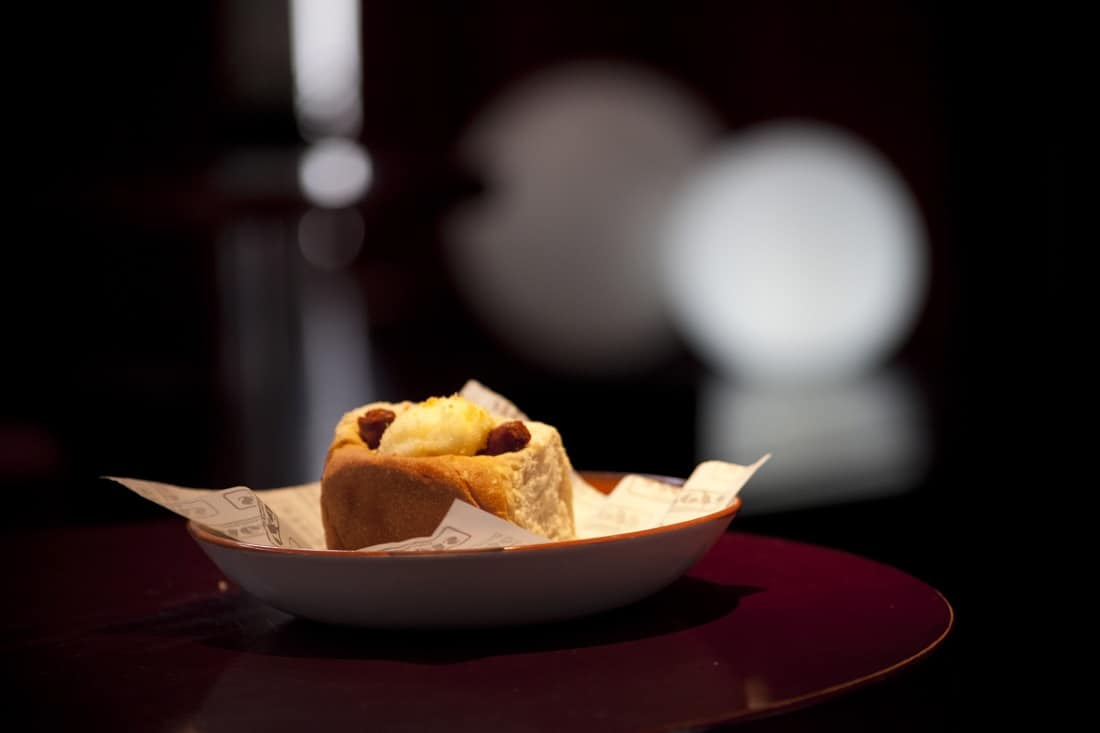 Huevo frito con txistorra