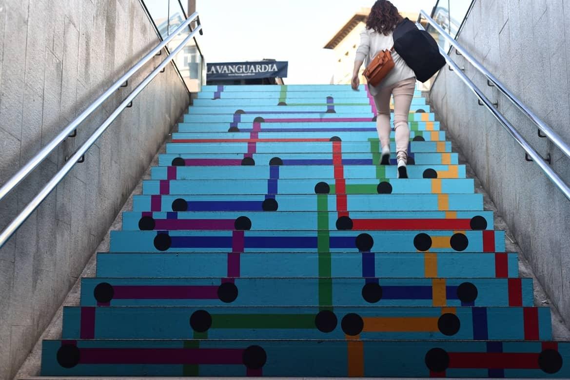 Swab Stairs 2016 Drassanes Metro