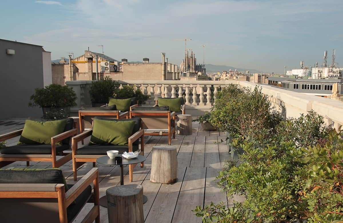 Alma Barcelona Terrace view towards Sagrada Familia