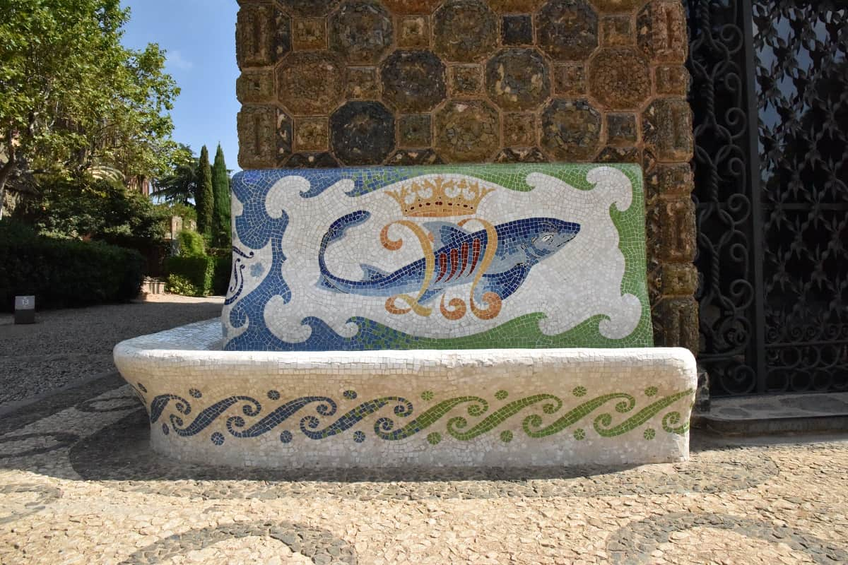 Torre Bellesguard Mosaic Bench