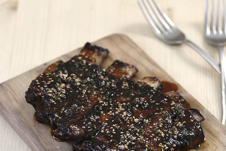 Braised Iberic Pork Ribs with Tereyaki Sauce