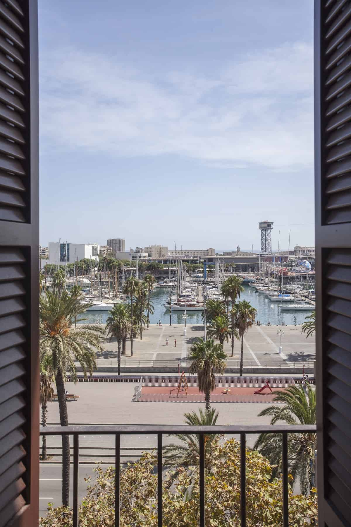 View of Port Vell from Soho House Barcelona