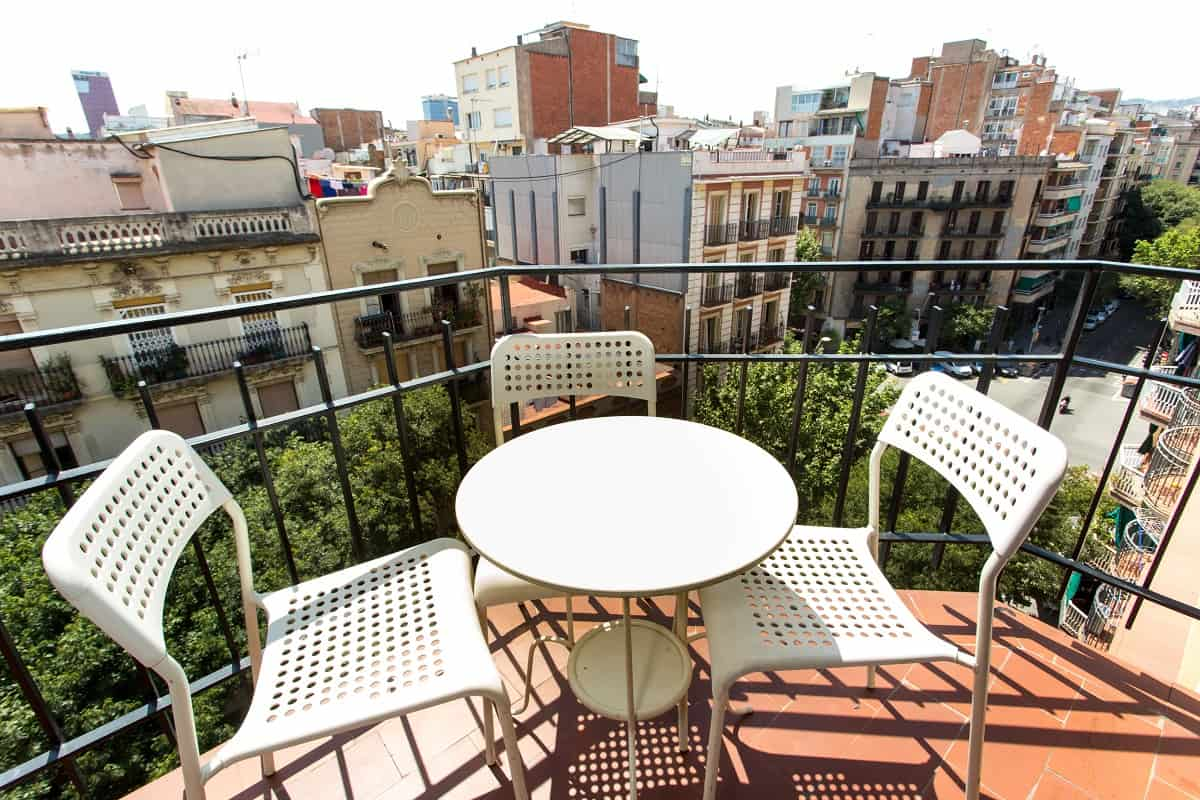 Rocafort Eixample Apartment Balcony