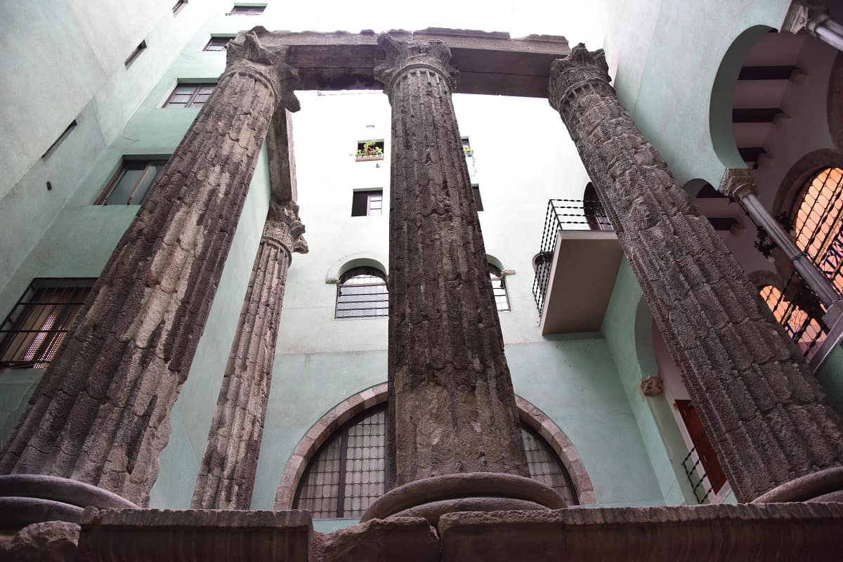 The Temple of Augustus in Barcelona