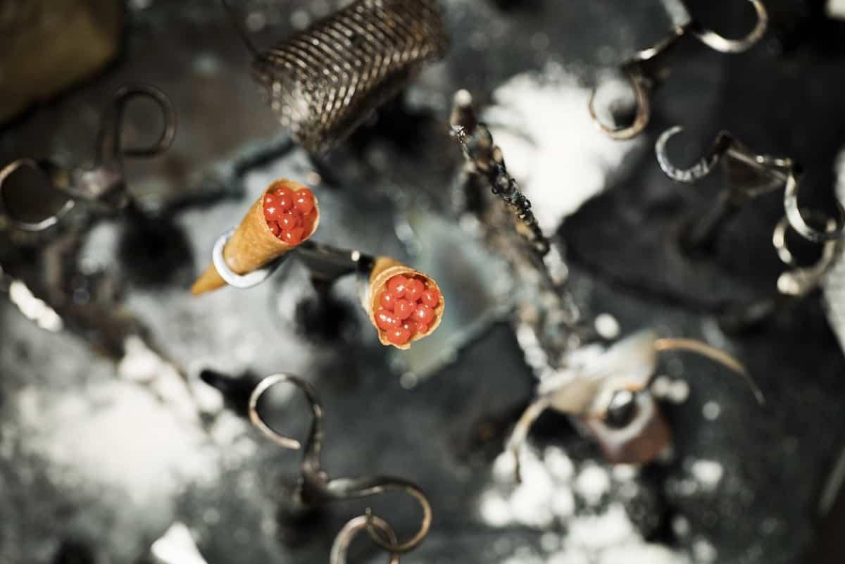 Manairó: cones of baked cod