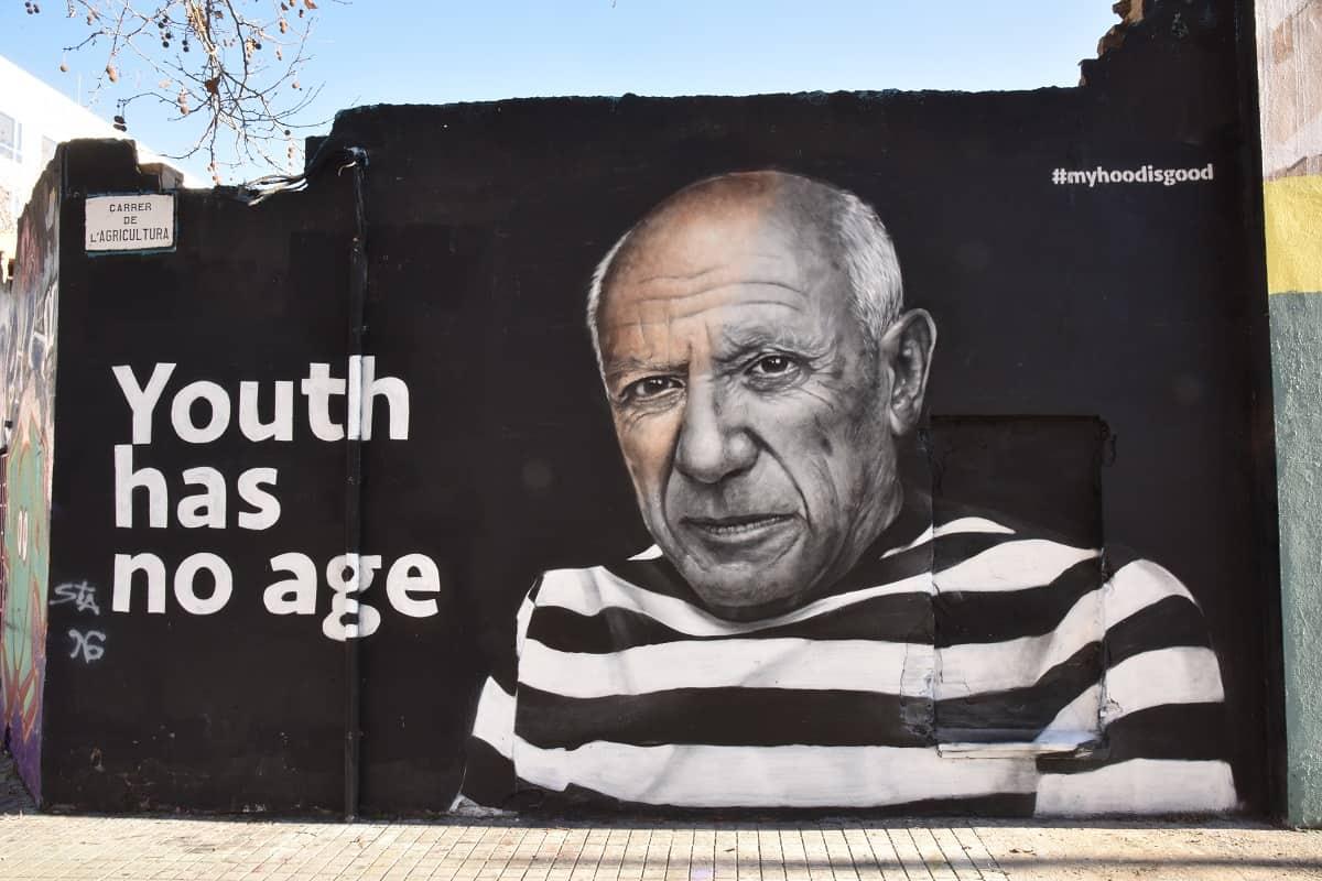 Picasso Mural in Sant Martí , Barcelona