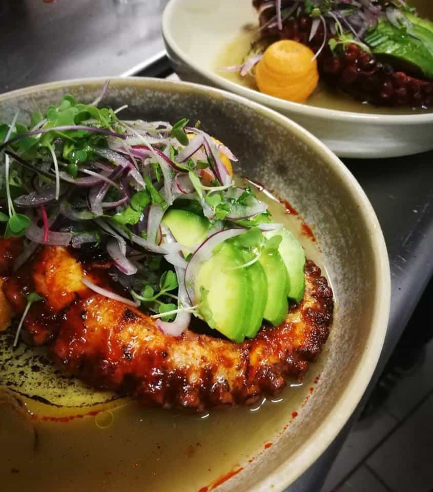 Grilled Octopus, Peruvian style