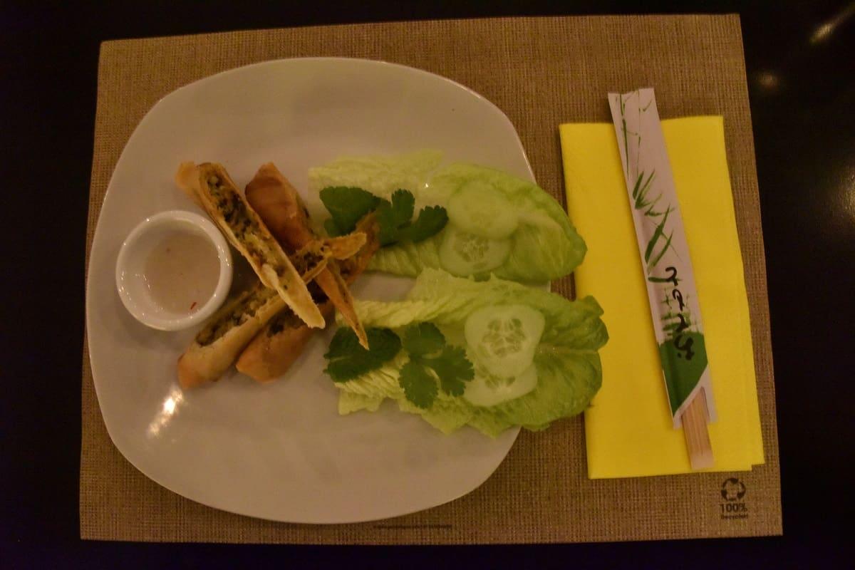 Vegetarian Fried Spring Rolls