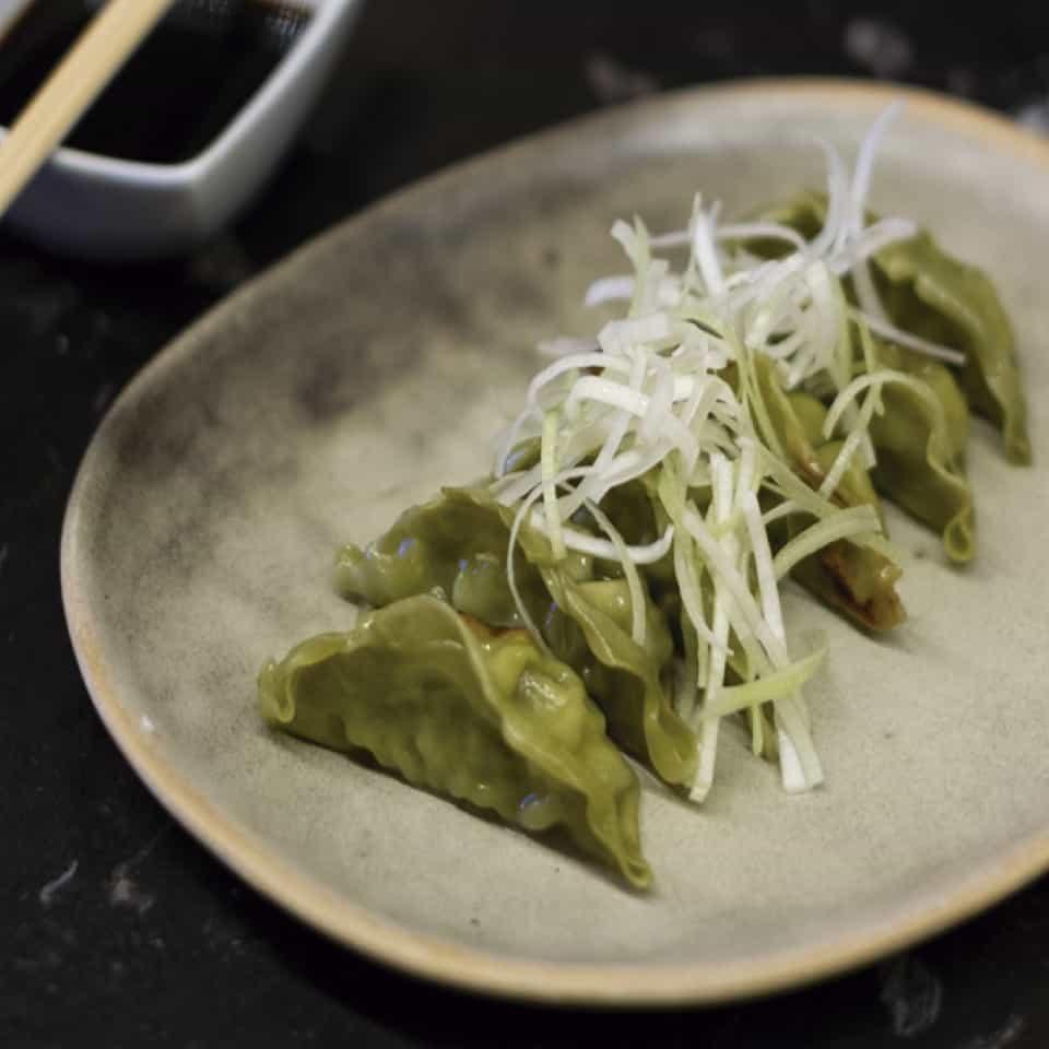 Veggie gyoza, ponzu sauce
