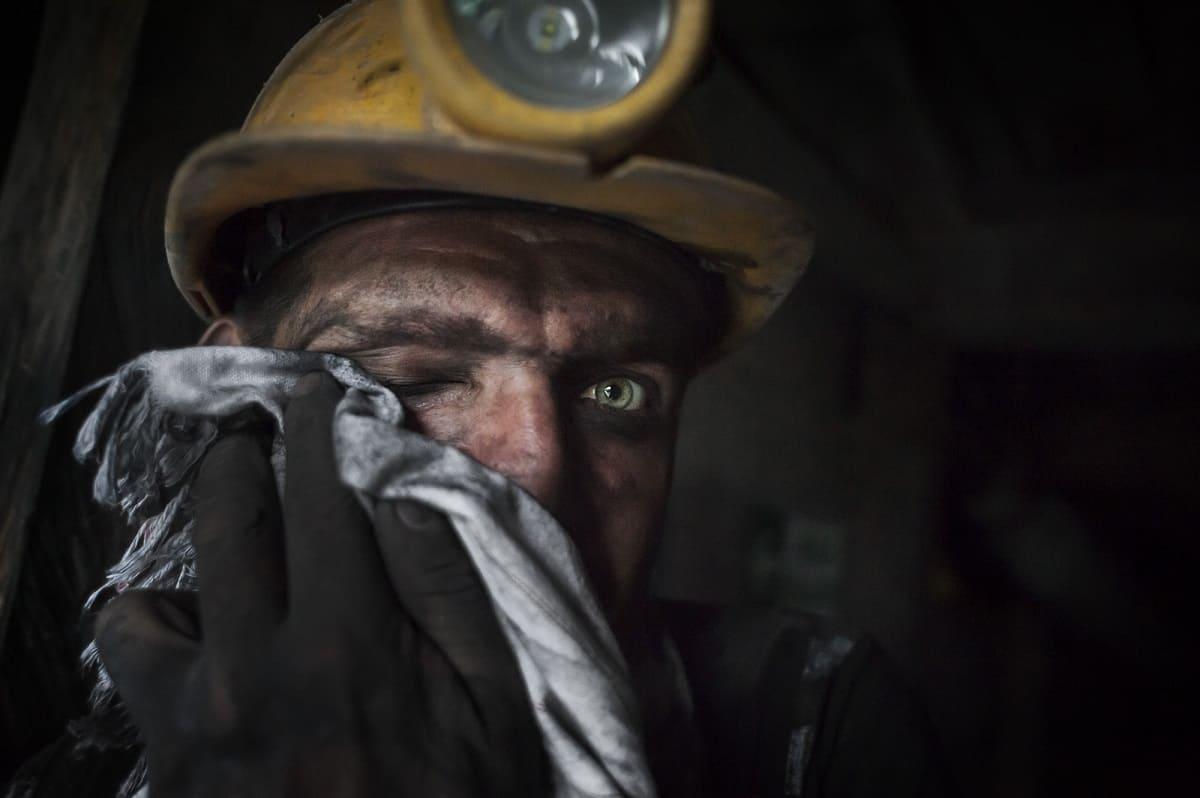 Javier Corso: Jorge Gutierrez, emerald miner. Maripí, Colombia 2016.