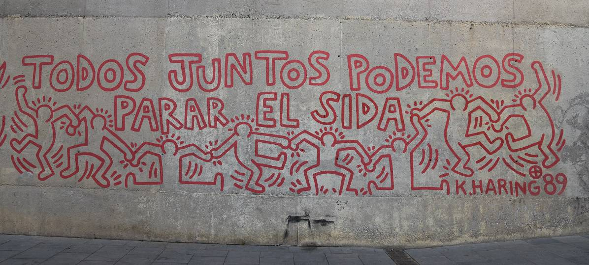 Keith Haring mural Barcelona