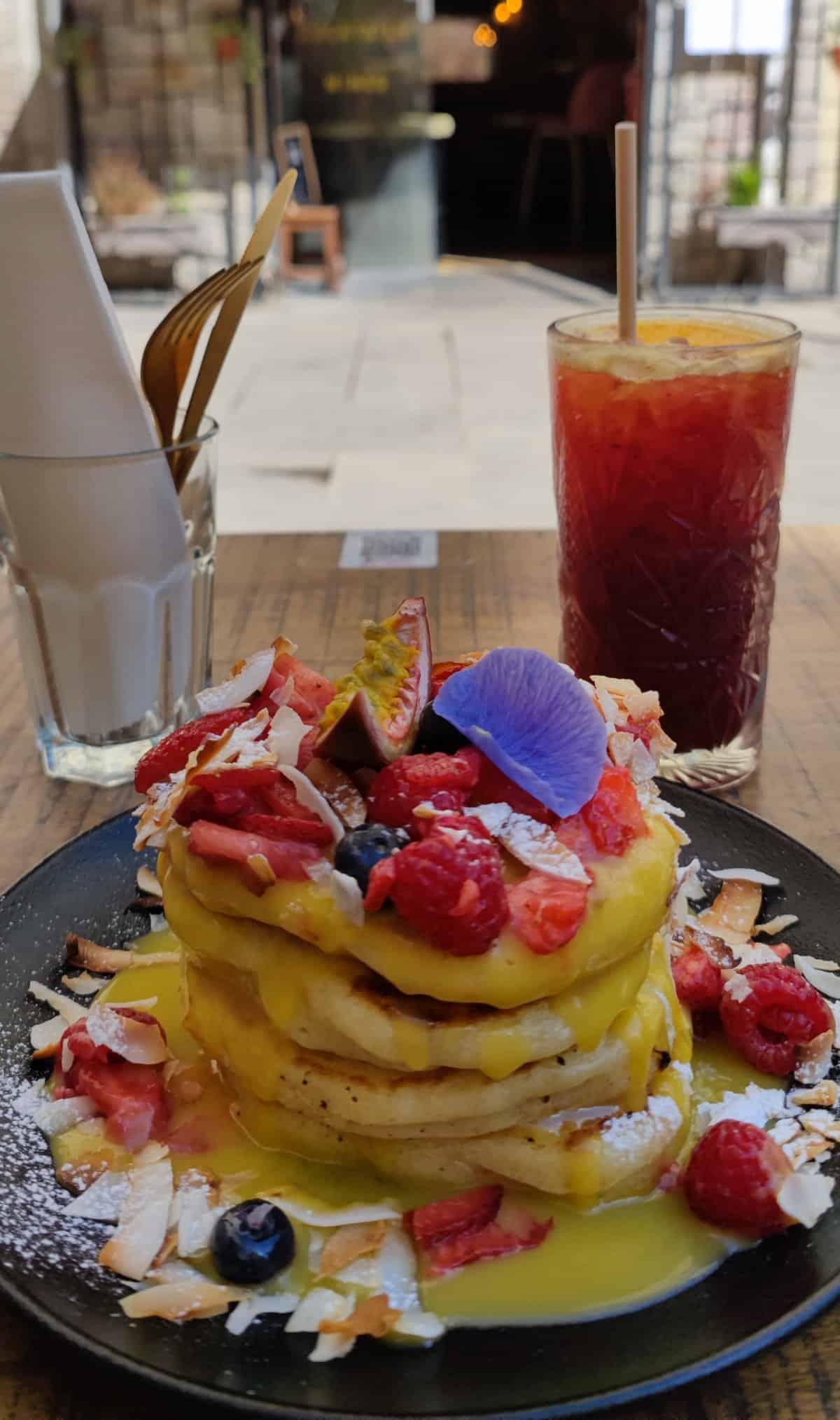 Passion Fruit Pancakes at Cremat 11